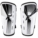 Franklin Sports Superlight Soccer Shin Guards, White/Black