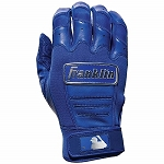 Franklin Sports Adult CFX Pro Full Color Chrome Batting Gloves - Royal