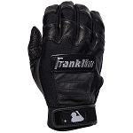 Franklin Sports Adult CFX Pro Full Color Chrome Series Batting Gloves, Black