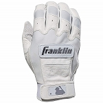 Franklin Sports Adult CFX Pro Full Color Chrome Series Batting Gloves, White