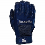 Franklin Sports Adult CFX Pro Full Color Chrome Series Batting Gloves, Navy