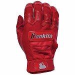 Franklin Sports Adult CFX Pro Full Color Chrome Series Batting Gloves, Red