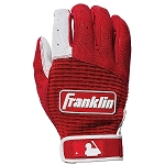 Franklin Sports Pro Classic Adult Batting Gloves - Pearl/Red
