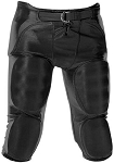 Alleson Adult and Youth Durable 7-Pad Solo Series Integrated Black FB Pant