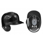 One Ear Batting Helmet Black Right hand Batter Or Left hand Batter