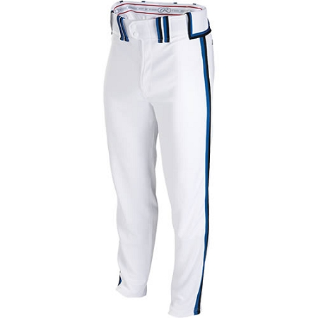 Adult Premium Baseball Pants White Piped