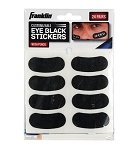 Franklin Sports Eye Black Stickers - Customizable Lettering -Black W/ White Pencil Included