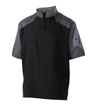Holloway Batting Jacket Black w Logo