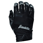 Franklin Sports Hi-Tack Premium Football Receiver Gloves - Black - Adult