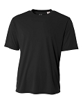 A4 Black Short Sleeve top with logo Mandatory