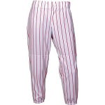 Intensity Girls Softball Pin Stripe Pant, White/Scarlet