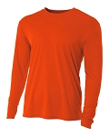 A4 Orange Long Sleeve top with logo Mandatory