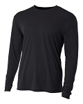 A4 Black Long Sleeve top with logo Mandatory