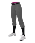 Women's Belted Speed Premium Fast Pitch Pants White or charcoal