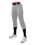 Women's Alleson Softball Pants Grey