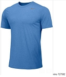 Nike Legend Short Sleeve Crew Neck Royal Shirt Men's