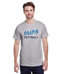 Short Sleeve Sports Grey T-shit With Chapin Softball Logo