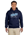 Navy Blue Hoody With Chapin Softball Logo