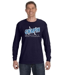 Navy Blue Long Sleeve Tshirt with Chapin Softball Logo