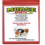 Morse Sports Line-Up Cards and Holder