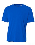 Men's A4 Shorts Sleeve Royal Moisture Management  Shirt