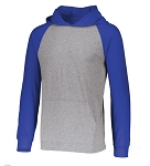 Russell Light Weight Adult Hoody Gray and Royal