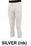 Holloway Compression Calf-length Tight White w/silver logo (COPY)