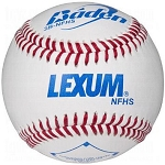 Baden 3B-NFHS Lexum Leather Baseballs (By the Dozen)