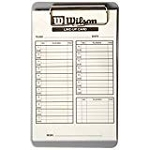 Wilson Lineup Cards with case