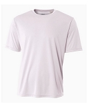 Men's A4 Shorts Sleeve White Moisture Management  Shirt
