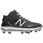 New Balance 4040v5 Mid-Cut TPU Mens Molded Baseball Cleats - Black/White