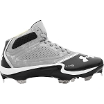 Under Armour Heater St Mid Top steel Cleat  Solid Black