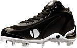 Verdero 3Q II Metal Mens Baseball Cleat- Black/Silver