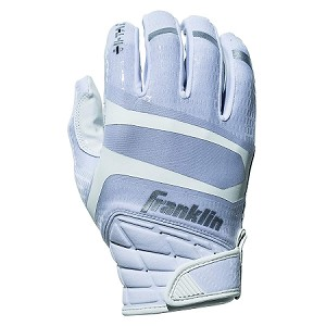 Franklin Sports Hi-Tack Premium Football Receiver Gloves - White - Youth