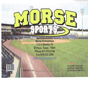 Morse Sports 48 Game Baseball/Softball Scorebook