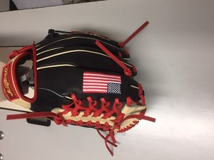 MORSE EXCLUSIVE GLOVE BLACK  TAN RED