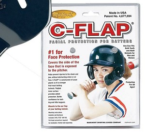 C-Flap Attaches to batting Helmet for extra protection