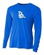 A4 Long Sleeve w2 color front logo and 1 color back logo