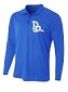 1/4 Zip Jacket in Royal with chest logo